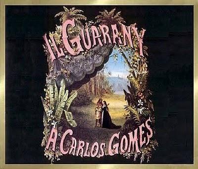 Capa do livreto que contém a obra de Carlos Gomes.