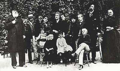 D. Pedro II e a família já no exílio