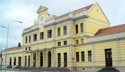 Museu Ferroviário de Curitiba, prédio da antiga estação de trens.