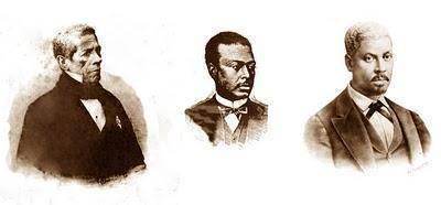 O pai e seus dois filhos Antonio e André Rebouças