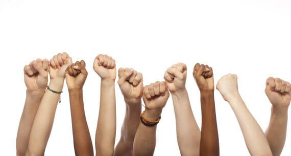 Fists Hands Raised